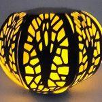 Halloween Ghost Ball Luminary all lit up