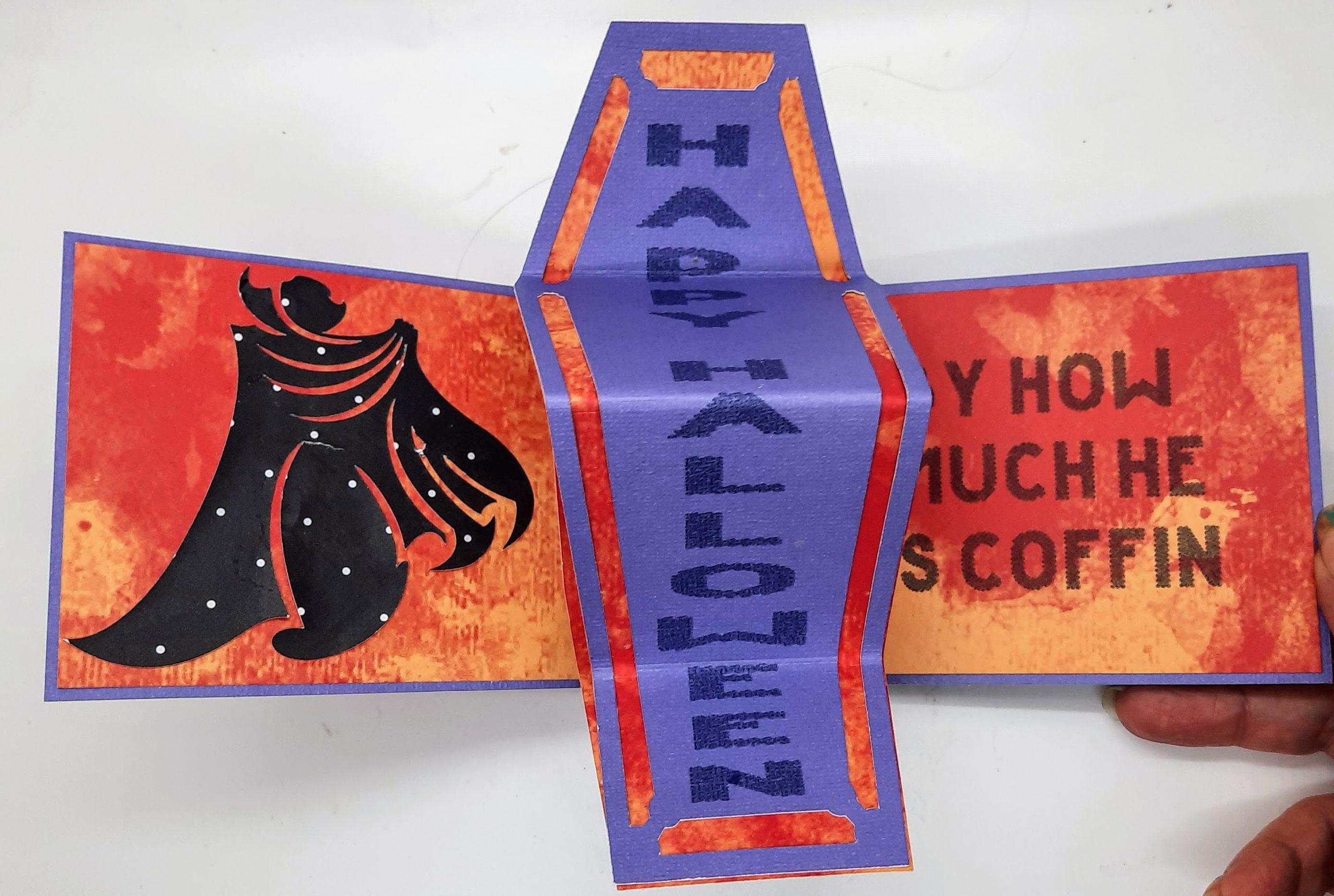 Fun Coffin Twist and Flip Halloween Card