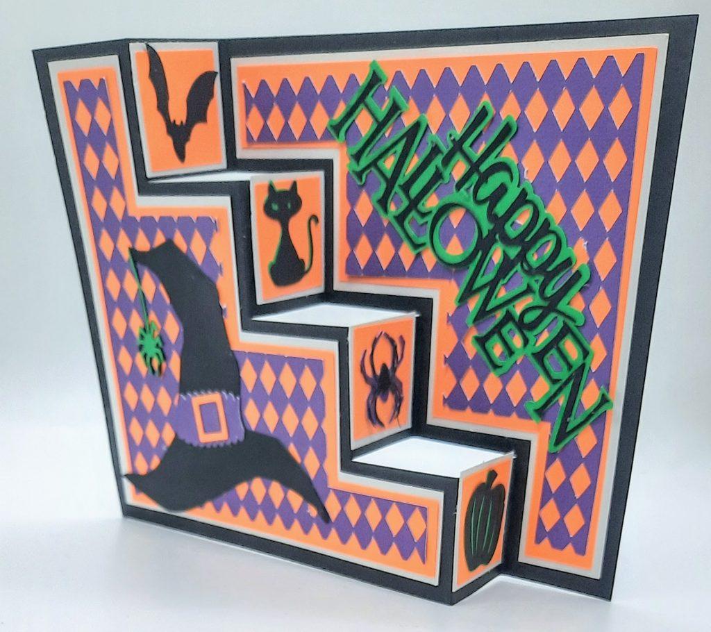 3D Halloween Sideways Step Card