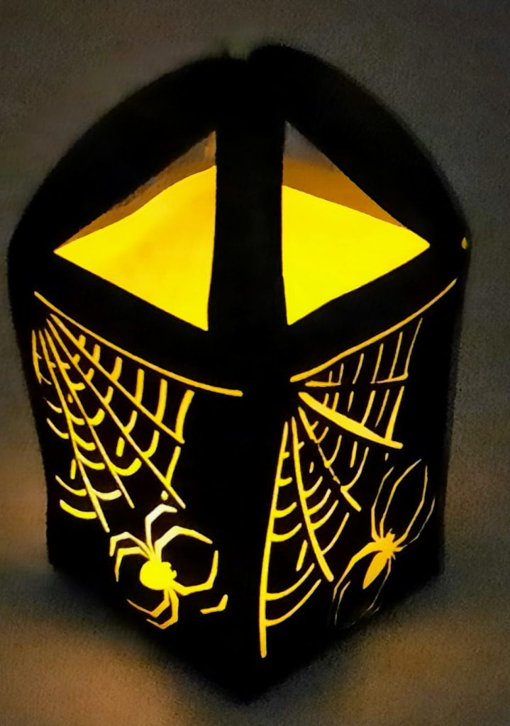 Spider Luminary all lit Up