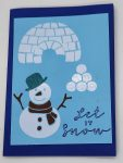 Front of Snow Days Card using Dollar Store vinyl