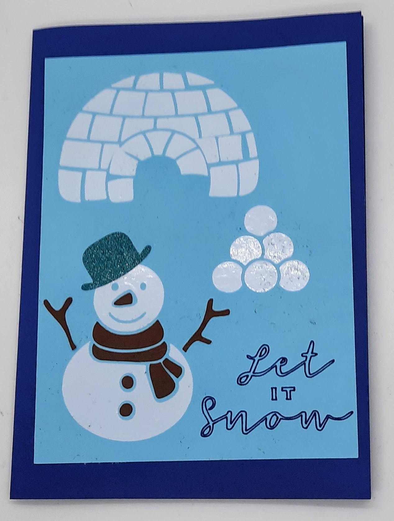 Snow Days Card and Review of Dollar Store Vinyl