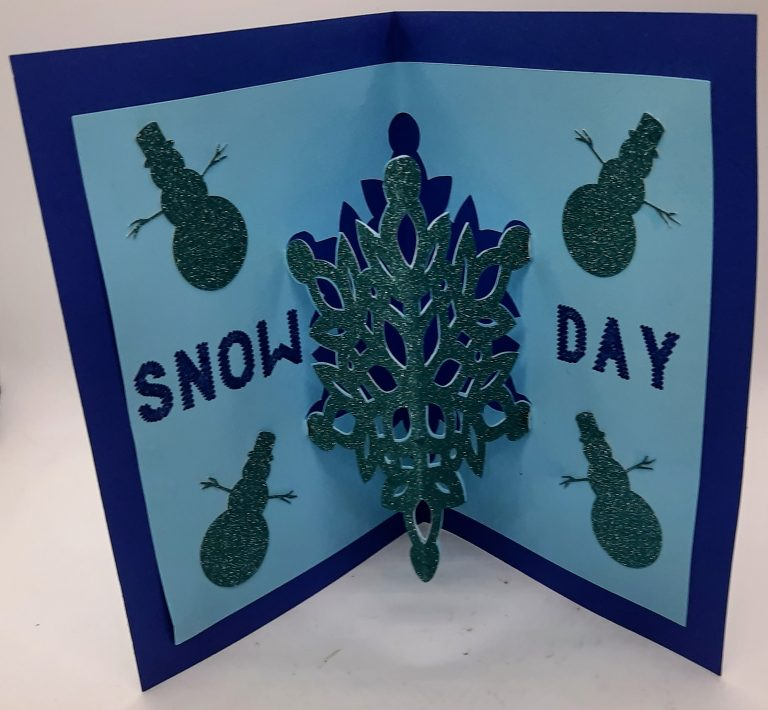 Inside Snow Days Card with Pop out snowflake