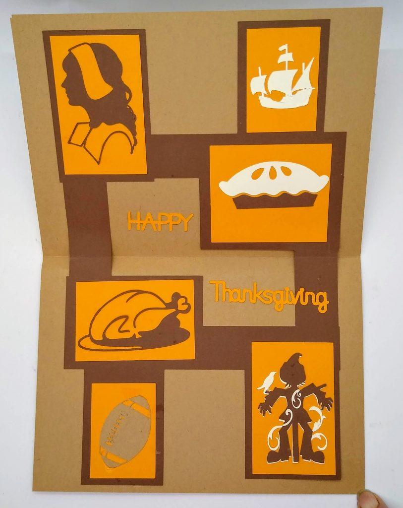 Inside of Thanksgiving Frames Card