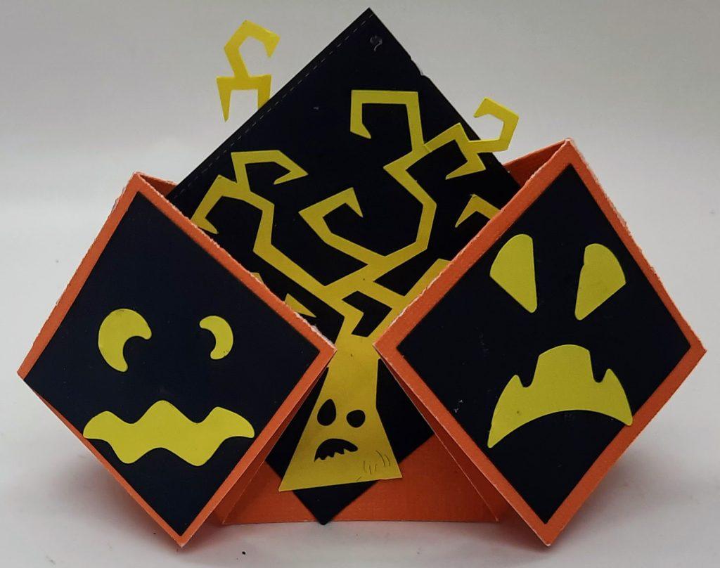 Side 2 of the Halloween double diamond fold card