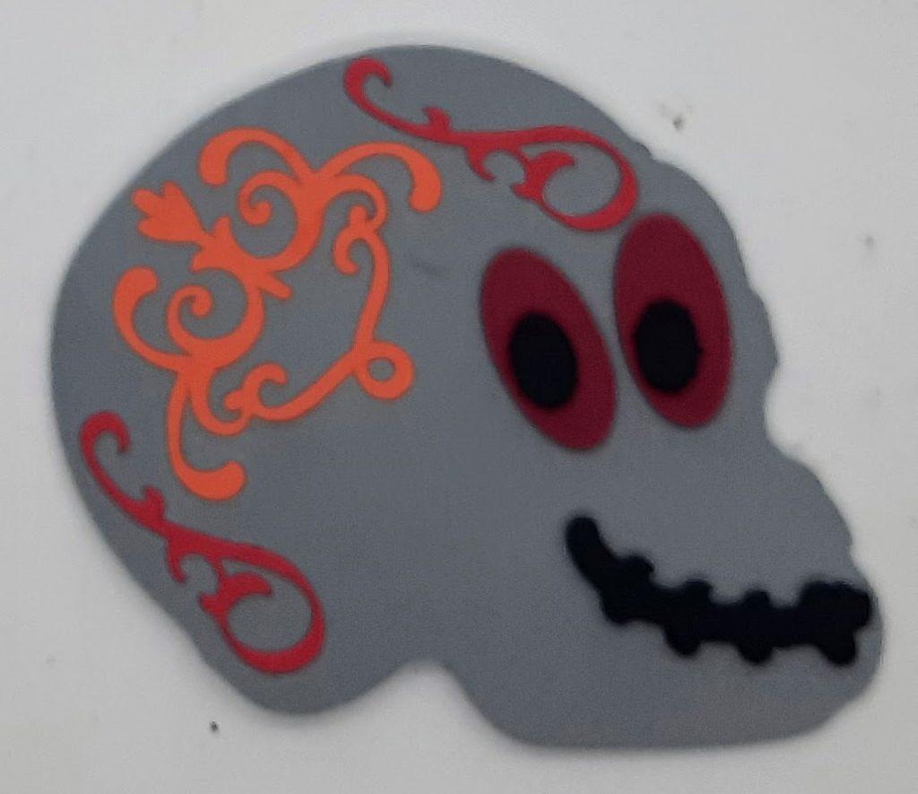 Skull Halloween Foam Sticker