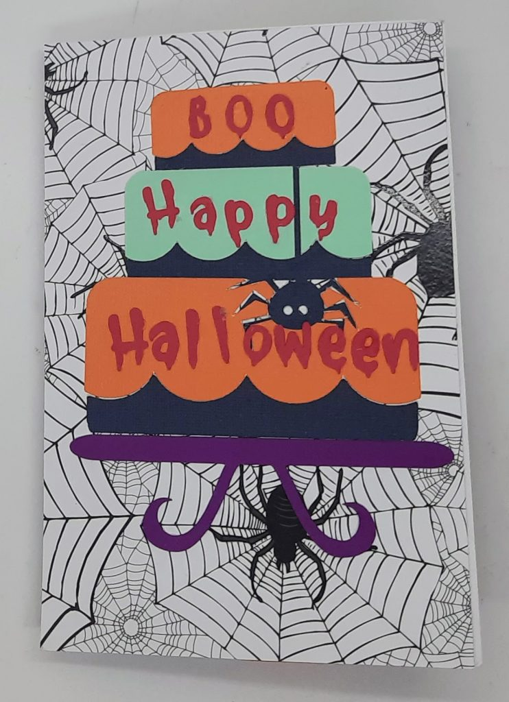 Front of Halloween Flag Card