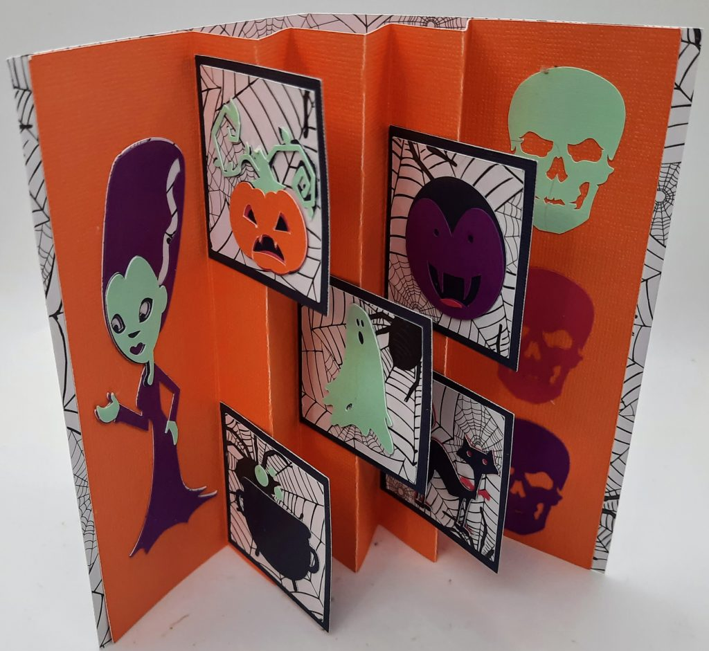 Inside the Halloween Flag Card