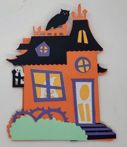 Haunted House Easel Card Front