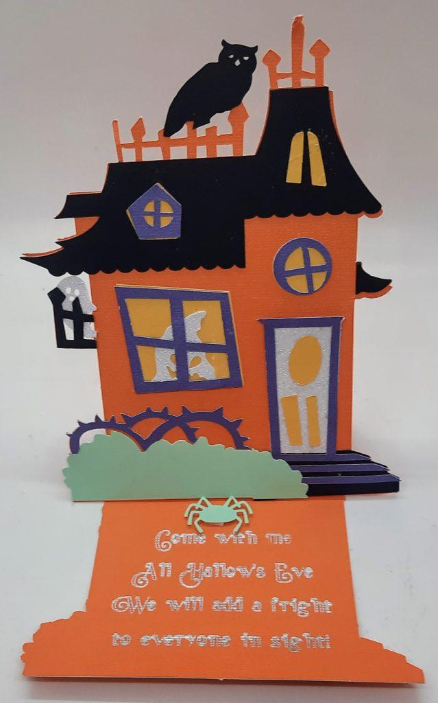 Haunted House Easel Card