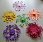 All of the flowers I made from Creative Fabrica