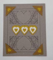 Final Pages for the memory book heart drawing in brown