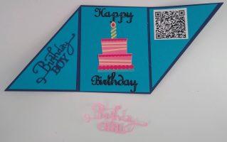 Adding a QR code Birthday Card