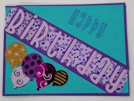 Cut out birthday card