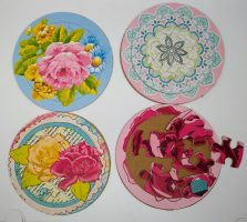 All 4 spring Flower Puzzles