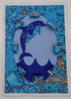 Front of Dolphin Love Card