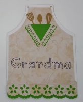 Front of Grandma apron card