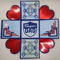 Art Deco Iron Cross Father's Day Card